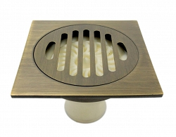 Aurelius - retro brass shower drain